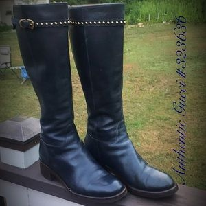 Authentic Gucci Navy Blue Boots